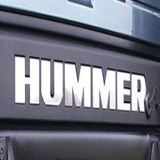 Lettere HUMMER posteriori in metallo
