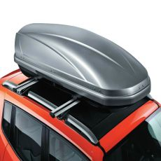 box da tetto argento rigido con serratura da istallare sulle barre trasversali