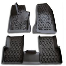 SET OF MATS BLACK RUBBER