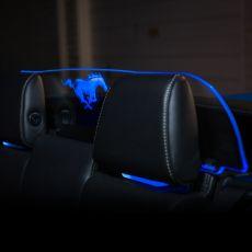 Deflettore aria con logo illuminato