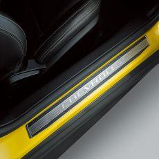 Decalcomania con logo nero lucido per sottoporta originale Chevrolet