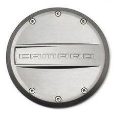 Tappo carburante in nichel satinato originale Chevrolet con logo Camaro